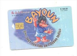 Télécarte Ile De La Réunion - 5èmes Jeux Des Iles De L' Océan Indien 1998 - Mascotte BAYOUN - Sport - Reunion