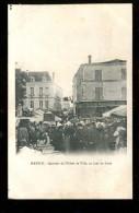 16boit Mansle Quartier De L'hôtel De Ville Un Jour De Foire - Mansle