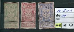 N° 68-70 X-1  - 1894 - 1893-1907 Coat Of Arms