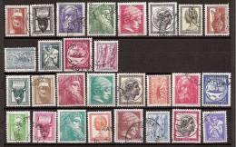 Greece 1954 , 1955 , 1958/60 > Mi 603/14 , 624/31 , 689/95 , 745 > Ancient Greek Art I , II , III > 3 Sets Used (o) - Greece