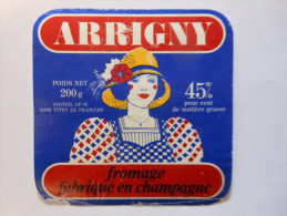 A-51221 - étiquette De Fromage - CARRE DE L´EST - ARRIGNY - VITRY LE FRANCOIS Marne 51 - Quesos