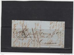 BELGIQUE PRECURSEUR 1861, Lettre Sans Timbre De Bruxelles à ARNHEM, Cachet NORD N1 . (3CF139) - Belgium