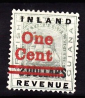British Guiana, 1890, SG 208, Surcharge 2 Cents On 2 Dollars, Mint Hinged (Wmk Crown CA) - British Guiana (...-1966)