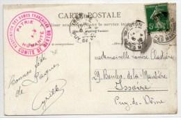 1912 - CP Avec CACHET ASSOCIATION DES DAMES FRANCAISES / COMITE DE MENTON (ALPES MARITIMES) - Poststempel (Briefe)