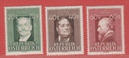 1948 ** (sans Charn., MNH, Postfrish)  Yv  694/5 (3v)Mi  855/7ANK 864/6 - 1945-60 Ongebruikt
