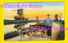 HONDENKAR MOLEN ZUID HOLLAND MOULIN ATTELAGE DE CHIEN * DOG DRAWN CART HONDEKAR VOITURE à CHIENS HUNDEKARRE 3486 - Spannen