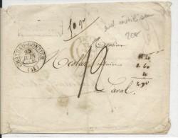 MORBIHAN - 1835 - ENVELOPPE REUTILISEE Pour La REPONSE De CHATEAU-GONTIER Avec T13 Pour LAVAL (MAYENNE) - 1801-1848: Precursores XIX