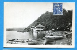 OV957, Aiguebelette-le-Lac, Barque, Bateau, Circulée Date Illisible - Autres Communes