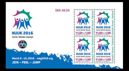 Greenland 2015 Souvenir Sheet - Arctic Winter Games 2016 - Greenland
