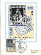 ITALIA - FDC MAXIMUM CARD 2001 - PRIMI FRANCOBOLLI TOSCANA -  ANNULLO SPECIALE - Cartoline Maximum