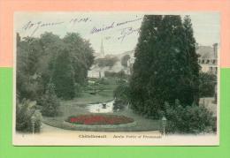 CPA  FRANCE  86  ~  CHÂTELLERAULT ~  5  Jardin Public Et Promenade   ( Dos Simple 1904 ) - Chatellerault