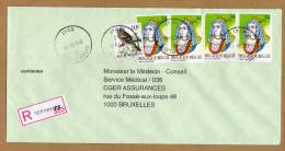 Enveloppe Cover Brief Aangetekend Registered Recommandé Gosselies - Belgien