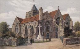 Rye - St. Mary´s Church - Wonderful Old Post Card (Salmon Series)  From An Original Water Colour Drawing By A.R. Quinton - Rye
