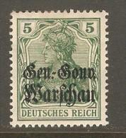 POLAND    Scott  # N 8*  VF MINT HINGED - ....-1919 Overgangsregering