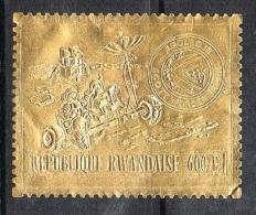 RWANDA  N**  TIMBRE EN OR  ESPACE APOLLO 15 - Rwanda