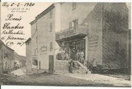 CAILLE....ALPES MARIT.....rue Principale...belle Animation......magasin ...Mercerie..,Droguerie ,etc.... - France