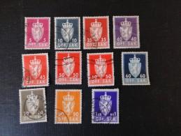 Norvège   Y/T N° 14, 24, 26 Et 2 Lot De 11 Timbres Oblit. M. N° 68, 69, 71, 72, .... - Service