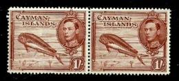 Cayman Isl. 1938-43 - Scott 108a (MNH) Pair - Perf.14 - Kaimaninseln