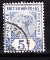 British Honduras, 1891, SG 54, Used (Wmk Crown CA) - British Honduras (...-1970)