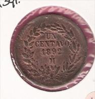 MEXICO 1 CENTAVO 1892M 391.6 - Mexique