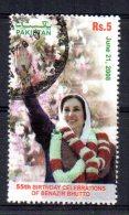 Pakistan - 2008 - 5R 55th Birth Anniversary Of Benazir Bhutto - Used - Pakistan