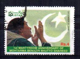 Pakistan - 2008 - 1st Death Anniversary Of Benazir Bhutto - Used - Pakistan