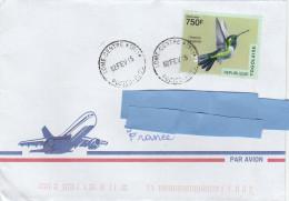 Z3] RARE: Enveloppe Cover Togo Colibri Whitetip Urosticte Benjamini Oiseau Tropical Bird - Hummingbirds
