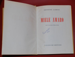 1954 SARDEGNA - NARRATIVA CAMBOSU SALVATORE MIELE AMARO - Libri, Riviste, Fumetti
