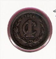 MEXICO 1 CENTAVO 1904M KM394.1 - Mexique