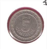 MEXICO 5 CENTAVOS 1907 KM421 - Mexique