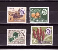 RHODESIA 1966-69 Odd Value   Yvert Cat N°130A-31A-33A-39A  Absolutely Perfect MNH ** - Southern Rhodesia (...-1964)