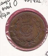 MEXICO 5 CENTAVOS 1930 LARGE OVAL O KM422 - Mexique