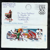 USA 1984 Olympics  Postal Stationery Air Letter Aerogramme (W278) - Postal Stationery