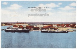 CURACAO NETHERLAND WEST INDIES ~OIL REFINERY C1940s Vintage Postcard ~INDUSTRY [5629] - Curaçao