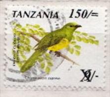 Tanzania Used Overprinted Stamp - Birds