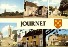 """CP De JOURNET """"l'église , La Mairie , Le Monument ... , La Lanterne... ,place ... , La Chapelle """" - Montmorillon"""