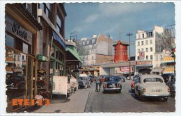 Paris  18 - Le Moulin Rouge - Voitures - 2 Cv - Dauphine - Fleuriste - Arrondissement: 18