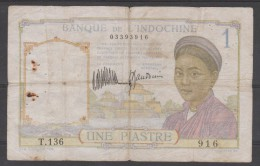 INDOCHINE CAMBODGE LAOS VIETNAM  BLUE NUMERAL 1     PICK N° 52   F - Indochine
