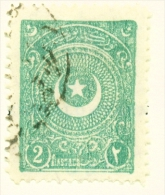 TURKEY  -  1923  Crescent And Star  2pi  Used As Scan - 1921-... Republic
