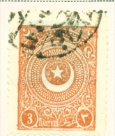 TURKEY  -  1923  Crescent And Star  3pi  Used As Scan - 1921-... Republic