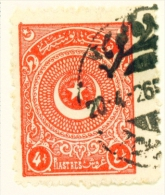 TURKEY  -  1923  Crescent And Star  41/2pi  Used As Scan - 1921-... Republic