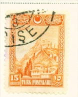 TURKEY  -  1926  Pictorial Definitives  15g  Used As Scan - 1921-... Republic