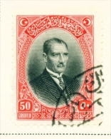 TURKEY  -  1926  Pictorial Definitives  50g  Used As Scan - 1921-... Republic