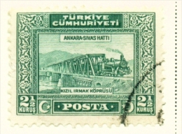 TURKEY  -  1929  Pictorial Definitive  21/2k  Used As Scan - 1921-... Republic