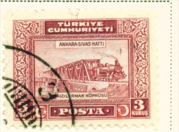 TURKEY  -  1929  Pictorial Definitive  3k  Used As Scan - 1921-... Republic