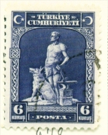TURKEY  -  1929  Pictorial Definitive  6k  Used As Scan - 1921-... Republic
