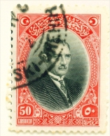TURKEY  -  1929  Pictorial Definitive  50k  Used As Scan - 1921-... Republic