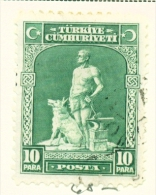 TURKEY  -  1929  Pictorial Definitive  10p  Used As Scan - 1921-... Republic