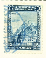 TURKEY  -  1929  Pictorial Definitive  121/2k  Used As Scan - 1921-... Republic