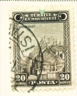 TURKEY  -  1929  Pictorial Definitive  20k  Used As Scan - 1921-... Republic